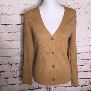 A New Day Casual Fit V Neck Cardigan Brown